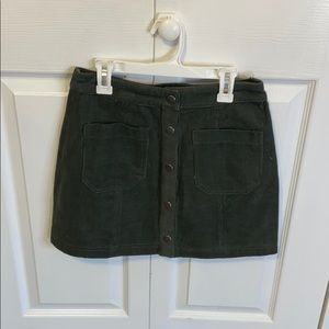 NWT Boujee Army Green Button Up Skirt